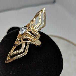 3/$12 Fashion Jewelry gold statement finger ring